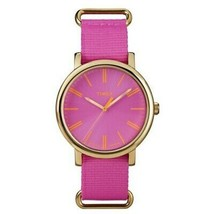 Timex T2P364 Women's Pink Nylon Band with Pink Analog Dial Watch - $23.95
