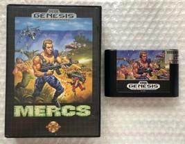 ☆ MERCS (Sega Genesis 1991) RARE AUTHENTIC Game Cart & Manual Tested Wor... - $22.99