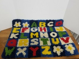 Latch Hook Rug Kit Alphabet Nursery Complete Ready to Frame - $20.00