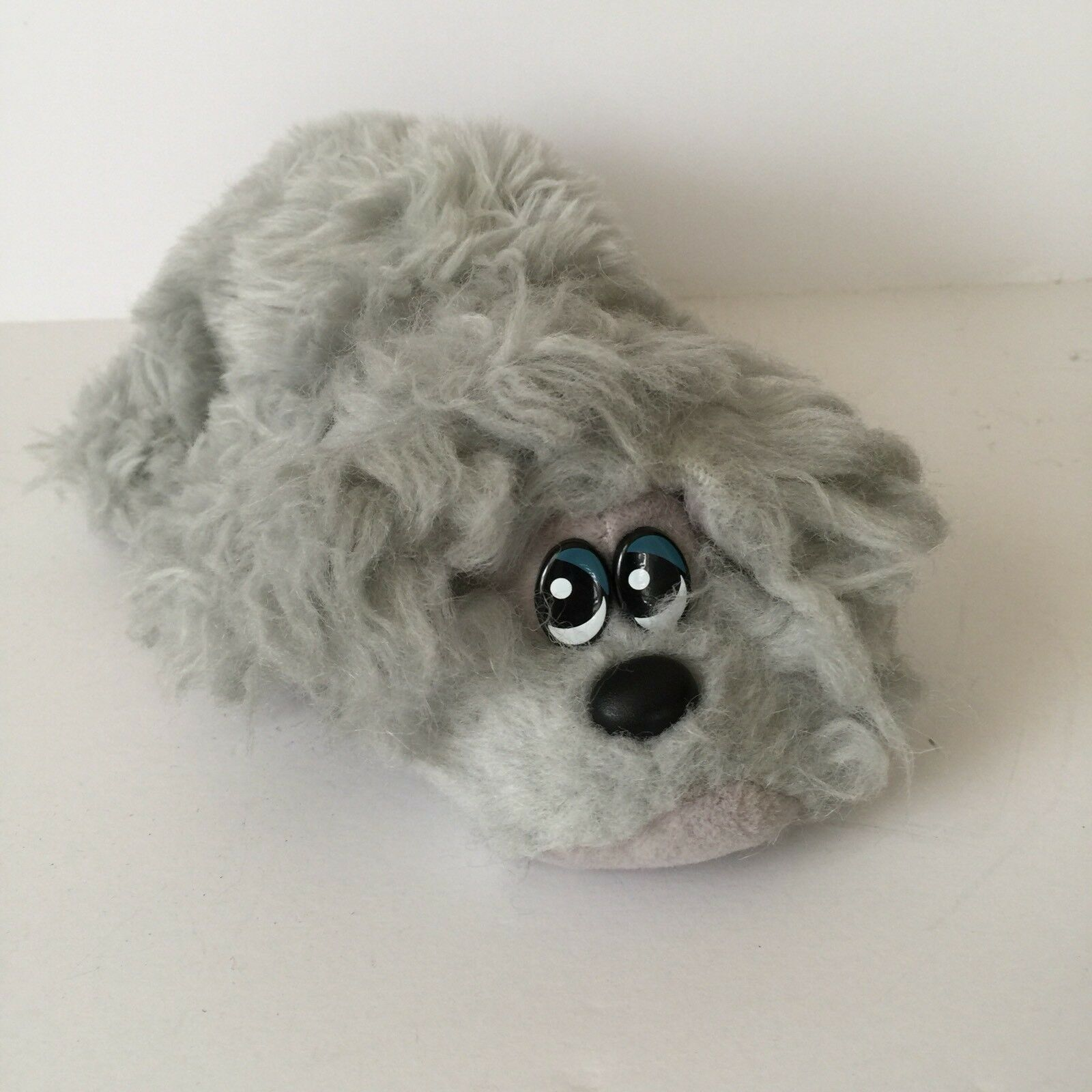 "Tonka Newborn Pound Furries Grey Furry Plush Pound Puppy Stuffed Animal 9"" Toy"