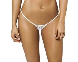 Joe Snyder Women Tinos V-String White Lace-OS White Lace One Size JSW101... - $18.81