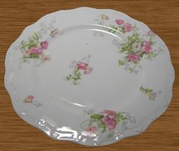 12 JPL. Jean Pouyat Limoges France Pink Flowers Salad Plates Scalloped E... - $50.00