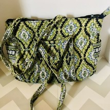 Large Vera Bradley Tote Bag Cambridge blue green white paisley Print Pat... - £18.54 GBP