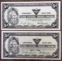 Lot of 2x 1987 Canadian Tire 5 Cents Notes ***Great Condition*** CTC-S6-... - $2.95