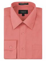 Omega Italy Men's Long Sleeve Regular Fit Coral Dress Shirt w/Defect 3XL image 1