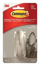 Command Designer Hook Holds Up To 3 Lb Medium Brushed Nickel Pack of 4 - €12,99 EUR