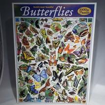 World's Most Beautiful Butterflies 1000 Pc Jigsaw Puzzle White Mountain ... - $18.95