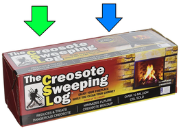 CSL CREOSOTE SWEEPING LOG 2hr Burn Treats Cleans Build-up Fireplaces Woo... - $25.18