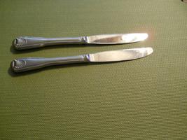 "Towle London shell   set of 2 dinner knives 9"" knife  - $16.78"