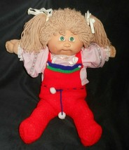 Vintage 1982 Cabbage Patch Kids Long Blonde Hair Green Eyes Girl Plush Doll A - $32.30