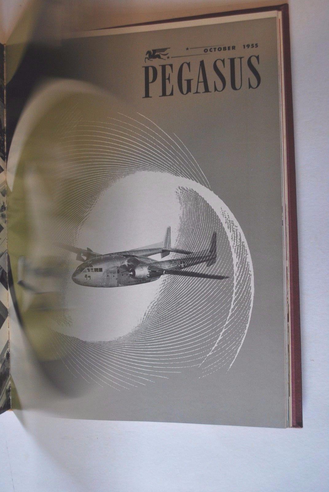 Pegasus Full Year of Bound Aviation Magazines 1955
