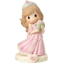 Precious Moments 162015B  Growing In Grace, Age 16, Bisque Porcelain Fig... - $58.05