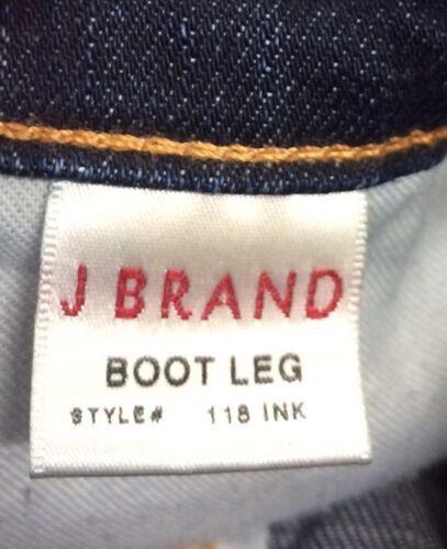 Anthropologie Women's J BRAND Jeans Dark Wash Boot Stretch Mint Long Size 25 image 7