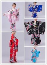 Retro Girl Kimono Japanese Children Yukata Obi Retro Cosplay Bathrobe Dress - $20.99