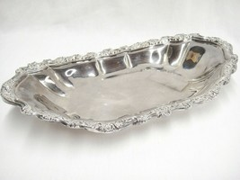 "International Silver Silverplate Countess 13"" Oval Bread Serving Tray 6219 - $14.10"