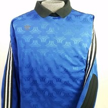 Adidas Goalie Soccer Jersey Goalkeeper Blue Vintage 90s Mens Size Large USA - $50.95