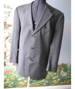 Hugo Boss Blazer Gray Pinstripe  Wool Men's Jacket Blazer Size 40R - $49.49