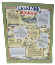 British Tea Towel Lakeland kitchen store English Recipes vintage 1990s c... - $11.20