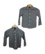 Van Heusen Dress Shirt 5 Twin Boys Gingham Print Button Up Black White L... - $26.76