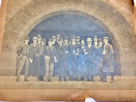 Antique 19th Century University Class Picture Photo B&W - $19.30