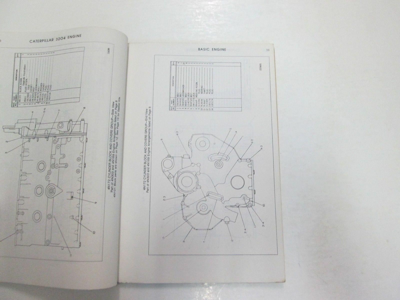 Caterpillar 3204 Engine Parts Book Manual 45 and 50 similar items