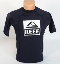 Reef Signature Black Short Sleeve Rash Guard Surf Shirt Rashguard Mens NWT - $44.99