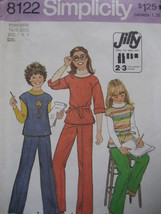 Vintage Sewing  Pattern Pants  Shirt  Girls sz 7  8 S8122 - $4.95