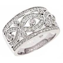 0.90ct G-SI Diamond Vintage Design Wedding Anniversary Band Ring 14k Whi... - £1,262.20 GBP