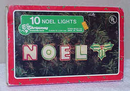 NOEL - 1988 Christmas Lights by House of Lloyd - IOB WORKING - $12.99