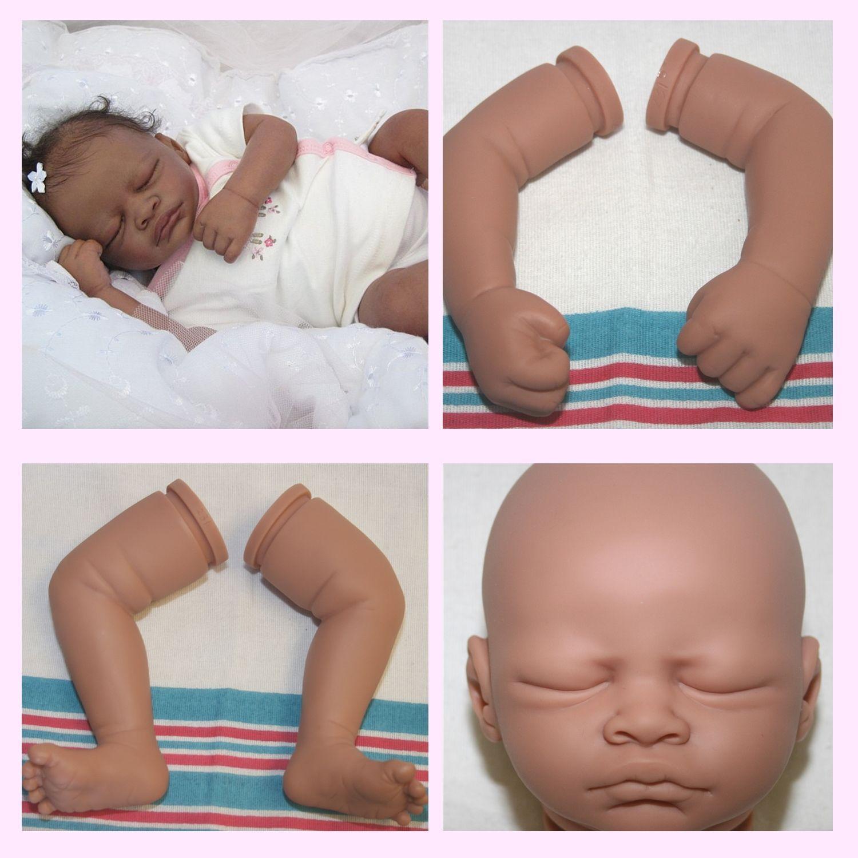 Reborn Doll Kit - Vinyl unpainted kit to make your own doll - Aisha Biracial kit