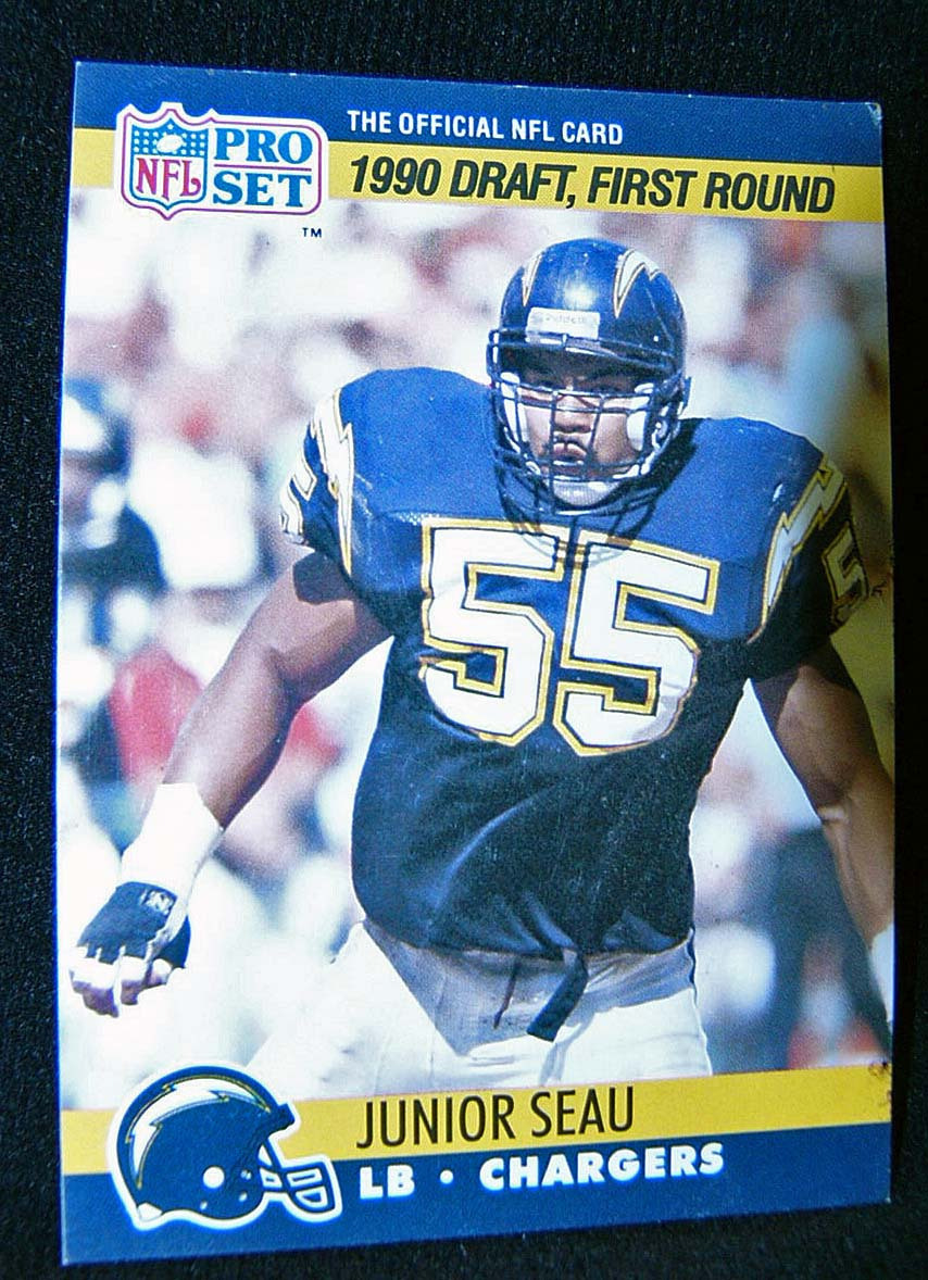 Junior Seau Chargers Pro Set 1990 Rookie Card San Diego