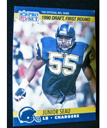 Junior Seau Chargers Pro Set 1990 Rookie Card San Diego Chargers 673 - $15.00