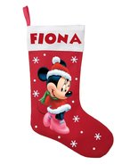 Minnie Mouse Christmas Stocking - Personalized Minnie Mouse Stocking - $29.99