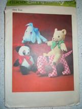 Vintage 1972 Simplicity Stuffed Toys Pattern # 8908 - $4.99