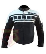 YAMAHA 6728 BLACK/WHITE MOTORBIKE MOTORCYCLE ARMOURED COWHIDE LEATHER JACKET - $194.99