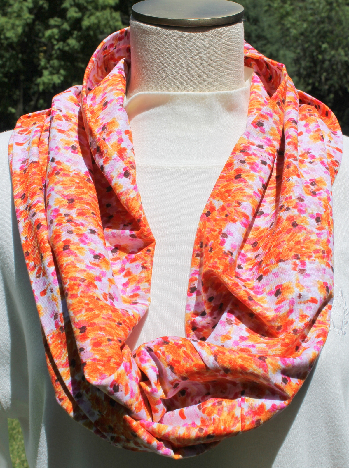 Summer Print Cotton Infinity Scarf