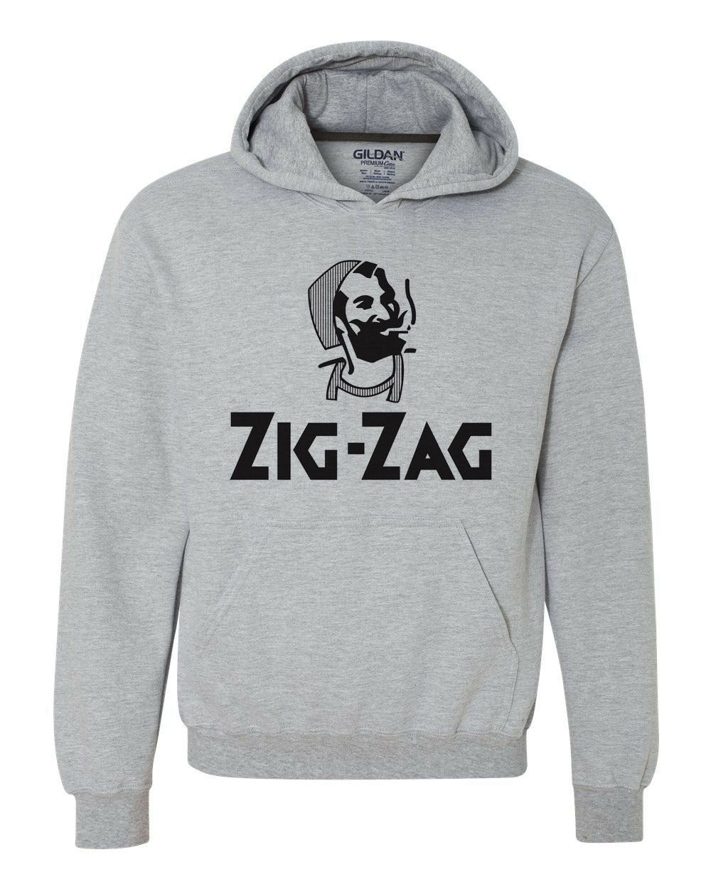Zig-Zag cigarette rolling papers hooded graphic hoodie pot weed retro vintage