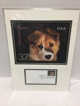 Neuter Spay 2002 USPS First Day Issue NFL Dog Stamp Matted - $29.69