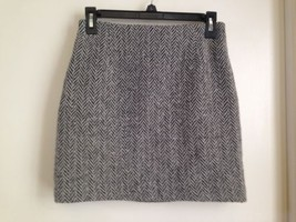 Gap Premium Classic Tailored Black And White Wool Blend Office Skirt 2 - $17.35