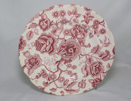 """Johnson Brothers English Chippendale China Floral Pink Red 10"""" Dinner Plate - $11.87"""