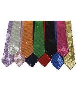New Style Men's Unisex Sequin Neckties 12 Color Brand New - $4.94+