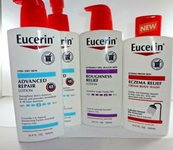 Eucerin Eczema Relief Cream Body Wash13.5oz, roughness relief 16.9oz,Adv... - $48.46