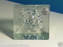 GOEBEL KRISTALLGLAS CRYSTAL GLASS PAPERWEIGHT R... - $74.25