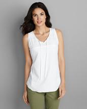 Eddie Bauer Women's Vista Point Tank Top, White, size L, New - $65.00