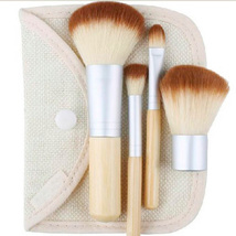 Eco Bamboo Travel Friendly Makeup Brush Set 4-Piece Cosmetic Brushes  - $20.00