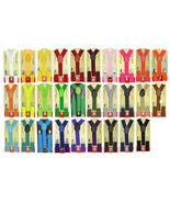 Baby Toddler Children Boys & Girls Plain Y-Back Elastic Suspenders 29 Co... - $3.99