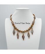 "Swarovski Crystal Redline Marble Necklace ""Felix Lake"" - $64.00"