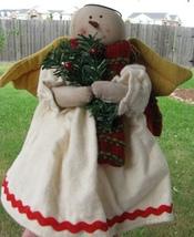 50654SW - Snowman Angel w/garland cloth   - $7.95
