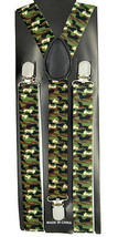 "Mens Unisex Clip-on Braces Elastic ""Camouflage"" Y Back Adjustable Suspender - $6.92"