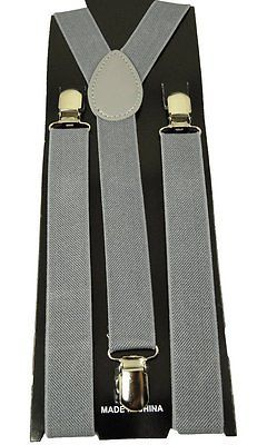"Mens/Womens/Juniors  ""Gray"" Color Y-back Adjustable Suspender"
